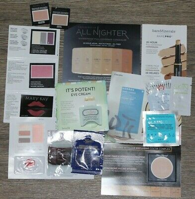 NEW! 25 Pcs Lot of Beauty Samples including Mask - Benefit/Urban Decay/Kiehls