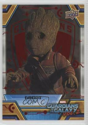 2017 Upper Deck Guardians of the Galaxy Volume 2 Red 14/49 Groot Characters 0ad