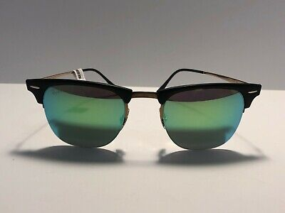 6623daa4a9 Ray Ban Clubmaster Light Ray Titanium Frame and Green Mirror RB 8056 176 3R  49mm