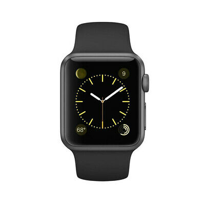 Apple Watch Series 1 Aluminum Case Sport Band 42mm A1803 Spacegray Uhr iOS