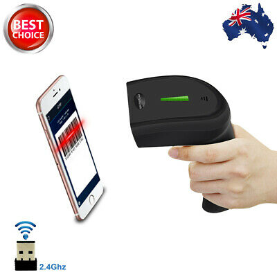 AU 2.4G USB Wireless Cordless Portable Laser Barcode Scanner Bar Code Reader POS