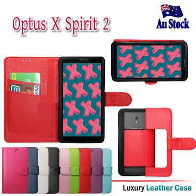 For Optus X Spirit 2 Wallet Leather Card Holder Premium Universal Case Cover