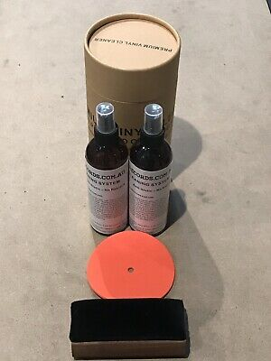 500ml Anti static Spray Vinyl LP Record Cleaner Cleaning Fluid +BRUSH +protector