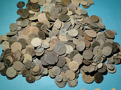 20 Uncleaned and Unsorted low quality Roman Bronze Coins.
