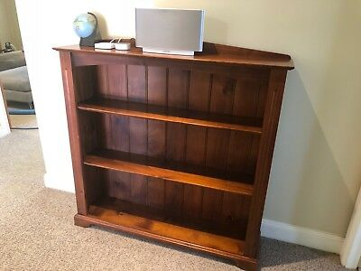 Pair of Solid Timber Bookcases [Aged Oak Stain, Austfurn]
