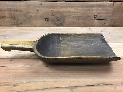 Primitive Antique Asian Chinese Wood Rice Grain Scoop