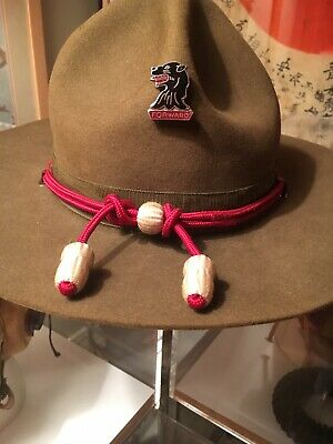 WWII Campaign Hat 11th Engineer Combat Regiment, with Cord, Chinstrap, Complete!