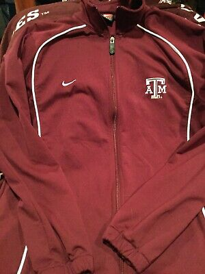 Vintage Men's Size Medium Texas A & M Full Zip Track Jacket, Good Condition