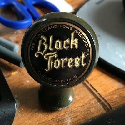 Vintage Black Forest Beer Ball Tap Knob / Handle Cleveland Home Brewing Oh Ohio