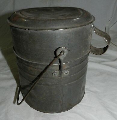 Vintage No. 1 - Four Piece Miner's Tin Lunchbox with bail handle