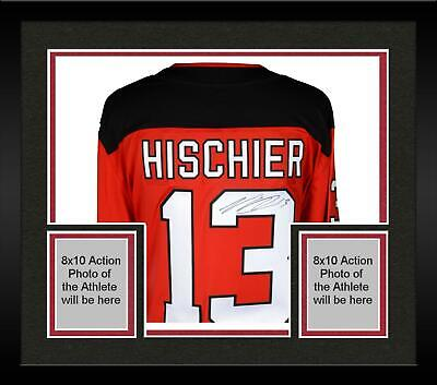 a42dac14957 Framed Nico Hischier New Jersey Devils Autographed Red Fanatics Breakaway  Jersey