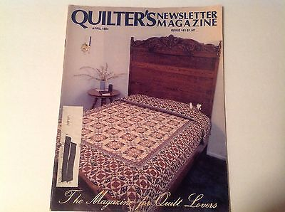 Quilter's Newsletter Magazine April 1984 Issue 161 GUC