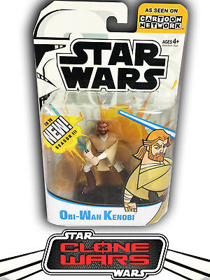 Star Wars Clone Wars Animated Cartoon Network Obi-Wan Kenobi Figure MOC