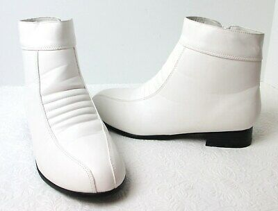 25bb09cd6d2eec Men s Funtasma PIMP-50 White Costume Ankle Boots Sz (S) 8 9