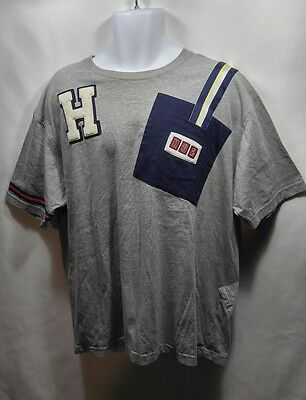 41dbf30b Vtg Tommy Hilfiger Shirt Polo Flag 90s Striped Spell Out Patch Sailing Rare  XL