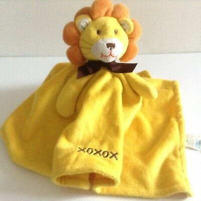Honey Bunny Lion Security Blanket Yellow Xoxox Embroidery Lovey