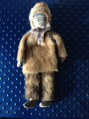 Antique Fur Arctic Doll/Toy Inuit/Eskimo Alaska Ca. 1920s
