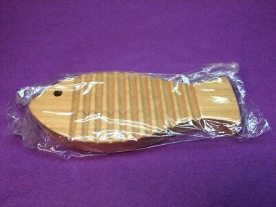 New Old Stock Frontier Wood Soap Dish Holder Fish Shaped Mint In Package!