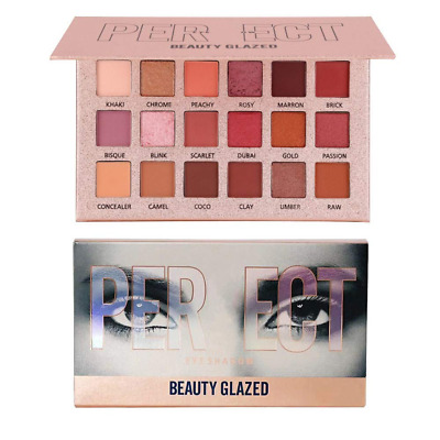 Beauty Glazed Eyeshadow Palette Glitter and Matte Shimmer Highly Pigmented Warm