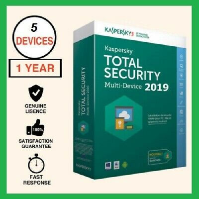 Kaspersky Total Security 2019 1 Year 5 Devices PC USER Global Worldwide