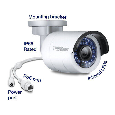 camara IP TRENDnet TV-IP320PI PoE 1.3mp Visio Nocturna