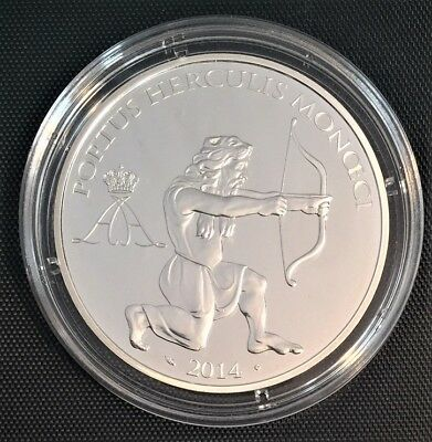 Monaco 2014 Hercules With Bow and Arrow 10 EUR  Silver Proof