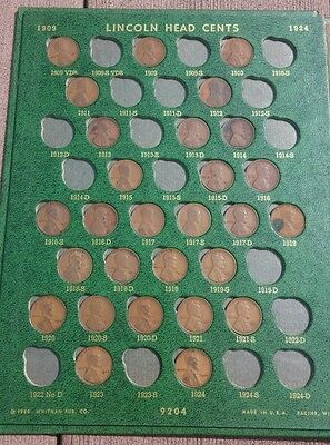 1909vdb to 1972 almost complete set Green Whitman lincoln heads cents coin wheat