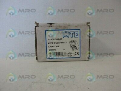 Mte 01.000130.007 Overload Relay *New In Box*