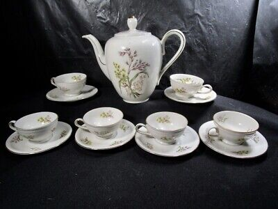 Vintage Winterling Bavaria Germany Floral 14 pc Tea Set