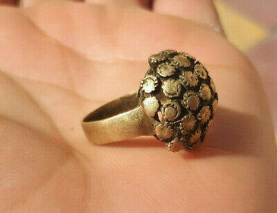 EXTREMELY Ancient antique Bronze flower RING museum quality ARTIFACT
