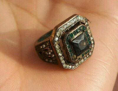 EXTREMELY Ancient antique BRONZE solide RING museum quality ARTIFACT.