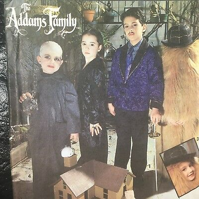 Simplicity Pattern 7991 The Addams Family Childs Halloween Costume Adams Kids