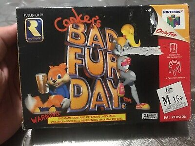 Conker's Bad Fur Day - Nintendo 64 Boxed With Instructions