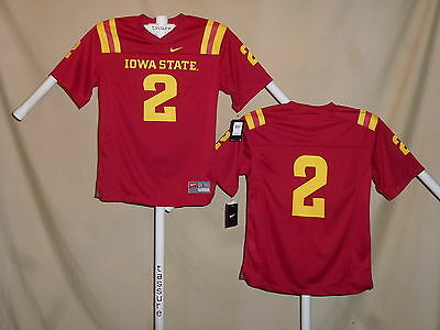 huge selection of 4e12a 6ec84 IOWA STATE CYCLONES Nike  2 FOOTBALL JERSEY Youth Large NWT  55 retail red