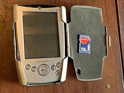 Dell Axim X5 Mobile Windows Handheld Pocket PC w/ Rhino-Skin Cover 128mb SD Card
