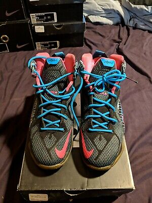 new styles d4560 908b0 NIKE Lebron James XII 23 CHROMOSOMES GS BASKETBALL SHOES SIZE YOUTH 7