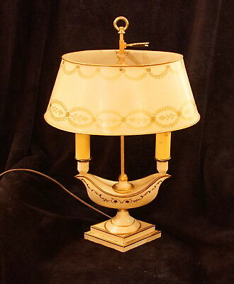 Fine Antique Hand Painted French Tole Lamp