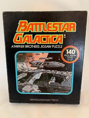 1978 Battlestar Galactica Parker Brothers Space Jigsaw Puzzle,Complete,(B1)