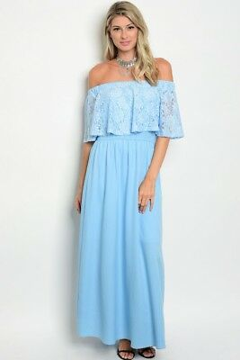 107530db047c FOREVER 21 NUDE Lace Off-the-Shoulder Maxi Dress S/M/L - $26.99 ...