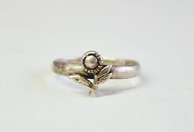 Vintage Sterling Silver 925 Sunflower/Flower Ring Size 6.5