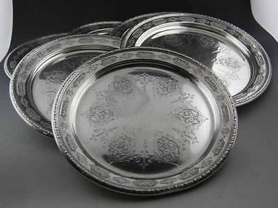 "6 Sterling TOWLE 6"" Bread Plates LOUIS XIV no. 5435 ~ 18.39 troy ozs"
