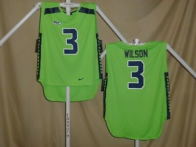 Hot NIKE RUSSELL WILSON Seattle Seahawks Vapor Color Rush Jersey Mens Xl  for cheap