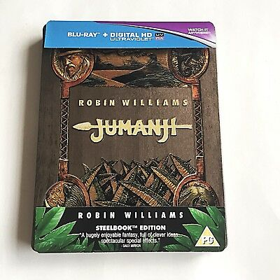 Jumanji Blu-ray Steelbook [UK] Embossed  Ultra Limited Edition! Region Free MINT