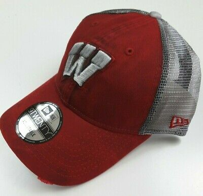 on sale 6a439 e8b5d New Era Wisconsin Badgers NCAA Team Rustic Trucker Distressed Hat Cap One  Size