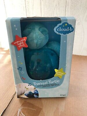 Cloud b Tranquil Turtle Aqua White Noise Sound Machine and Nightlight NIB
