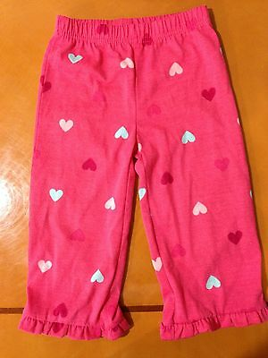 Baby Girls Toddlers Beautiful Baby Gap Polka Dotted Heart Pants PJs 18-24 Months