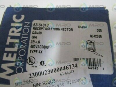 Meltric Receptacle/Connecgtor 63-64043 * New In Box *