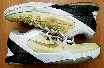 cheap for discount d94d5 c6625 Nike Zoom Kobe Vii 7 System Elite Home White Gold Black Grey 511371-100 11