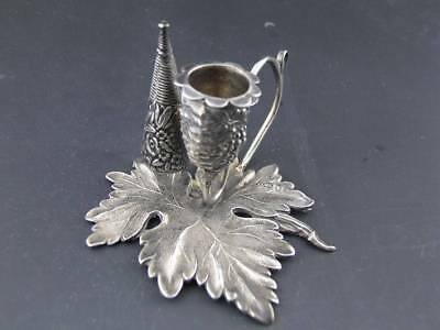 Early English Sterling Silver leaf Chamberstick TAYLOR & PERRY Birmingham 1830