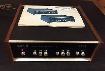DBX II 124 noise reduction system tape & dbx disc encode decode & manual